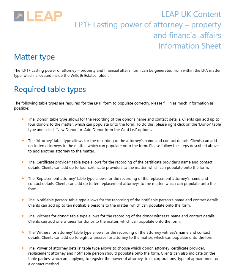 Lp1f Lasting Power Of Attorney Property And Financial Affairs